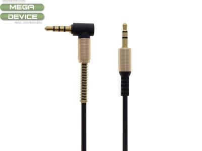 Аудио кабел стерео 3.5mm + microphone line, Черен