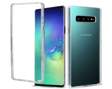 360 Градуса Силиконов Калъф за Samsung Galaxy S10, Прозрачен
