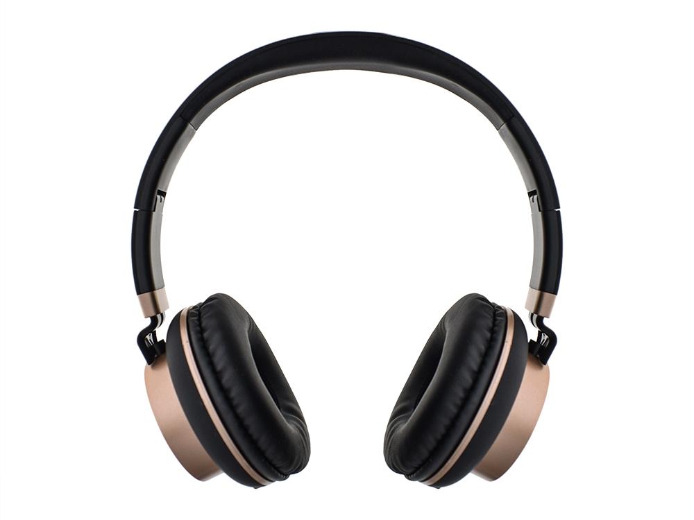 Слушалки с микрофон GJBY GJ-18, Черен/ Златист