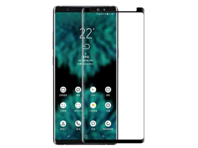 Стъклен Протектор Full Glue 5D (case friendly) - Samsung Galaxy Note 9 (N960) - Black