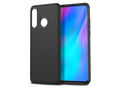 Силиконов гръб Twill за Huawei P30 Lite, Черен