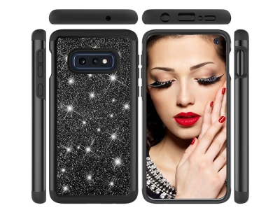 Удароустойчив Гръб  Flash Powder за Samsung Galaxy S10e, Черен