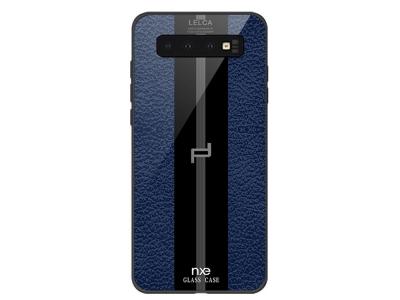 Стъклен гръб Glass NXE LELCA за Samsung Galaxy S10 Plus, Син