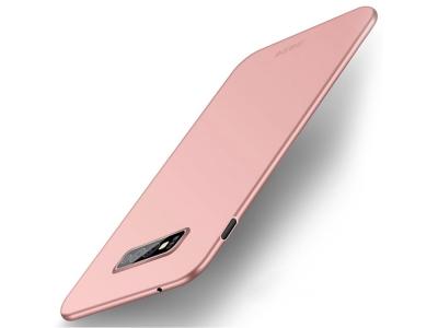 Пластмасов Гръб MOFI за Samsung Galaxy S10e, Розов/ Златист