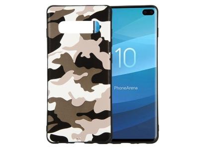 Силиконов Гръб Camouflage - Samsung Galaxy S10 Plus - White