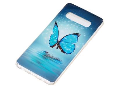 Силиконов Гръб за Samsung Galaxy S10 Plus, Светеща пеперуда