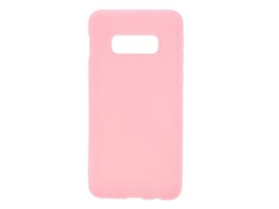 Силиконов Гръб Matte за Samsung Galaxy S10e, Розов