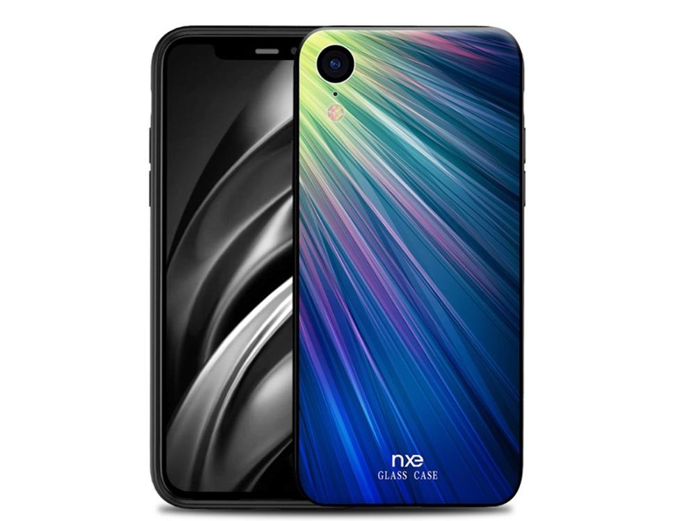 Силиконов Гръб NXE за iPhone XR (6.1), Зелен/ Син