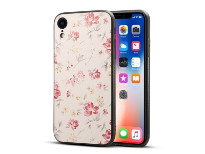 Пластмасов гръб Coated за iPhone XR (6.1), Цветя