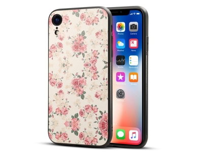 Пластмасов гръб Coated за iPhone XR (6.1), Божур