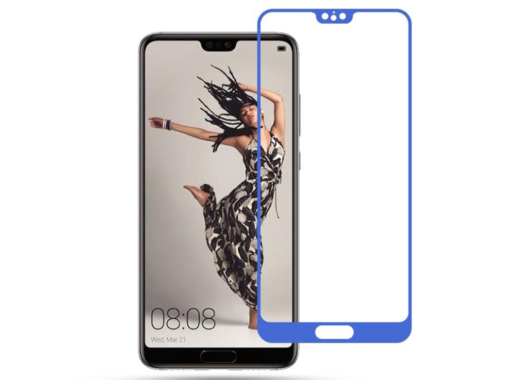 Стъклен Протектор MOCOLO 3D за Huawei P20, Син
