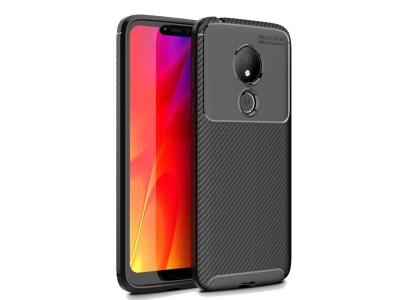 Силиконов гръб Carbon за Motorola Moto G7 Power (EU Version), Черен