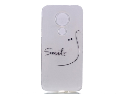 Силиконов Гръб за Motorola Moto G7 Power , Усмивка