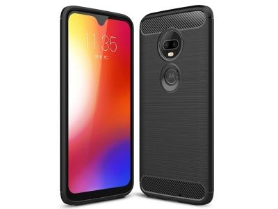 Силиконов гръб Carbon за Motorola Moto G7 / G7 Plus, Черен