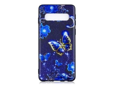 Силиконов Гръб за Samsung Galaxy S10, Синя пеперуда