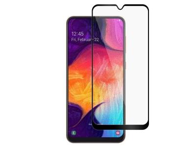 Стъклен Протектор Full Glue 9D за Samsung Galaxy A30, Черен