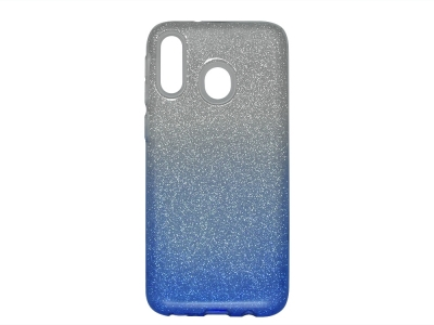 Силиконов Гръб SHINING за Samsung Galaxy M20, Сребрист / Син