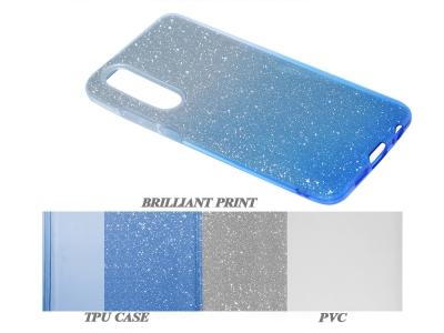 Силиконов Гръб SHINING за Huawei P30, Сребрист/ Син