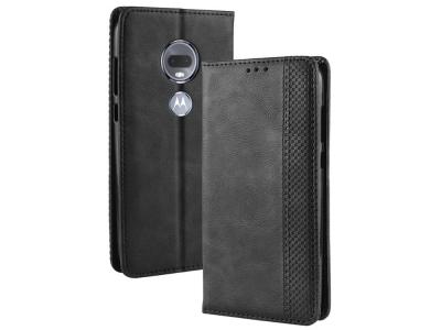 Калъф Тефтер Vintage Style за Motorola Moto G7 / G7 Plus , Черен