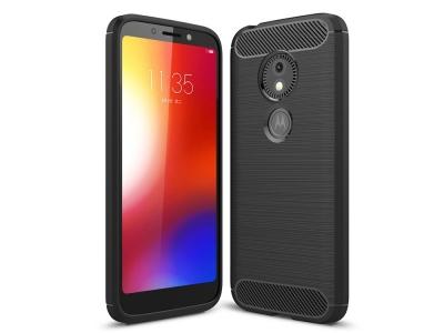 Силиконов гръб Carbon за Motorola Moto E5 Play Go, Черен