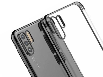 Силиконов гръб с лайстна за Huawei P30 Pro, Черен