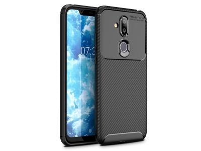 Силиконов гръб Carbon Fiber за Nokia 8.1 , Черен