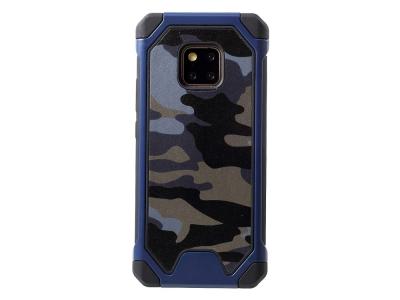 Удароустойчив гръб Camouflage за Huawei Mate 20 Pro, Син