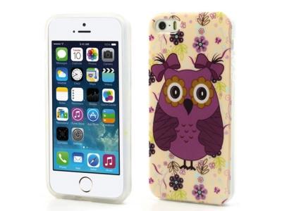 Силиконов Гръб - iPhone 5/ 5S / SE - Girl Owl