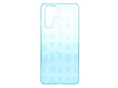 Силиконов гръб PRISM за Huawei P30 Pro, Прозрачен / Син