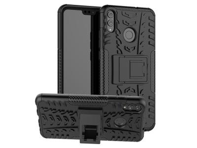 Удароустойчив Калъф гръб с поставка Hybrid за Huawei Honor 8x, Черен