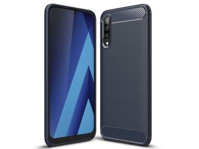 Силиконов гръб Carbon за Samsung Galaxy A50/ Galaxy A30s, Тъмно син