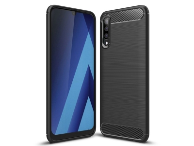 Силиконов гръб Carbon за Samsung Galaxy A50/ Galaxy A30s, Черен