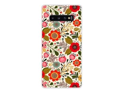 Силиконов Гръб за Samsung Galaxy S10, Цветя