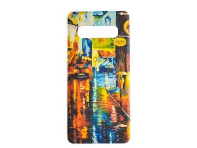 Силиконов Гръб за Samsung Galaxy S10, Дъждовна нощ