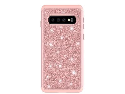 Удароустойчив Гръб Flash Powder за Samsung Galaxy S10, Розов