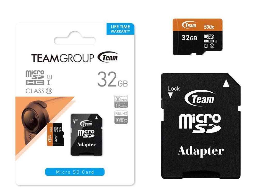 MICROSD 32GB +Адаптер CL10 TEAM