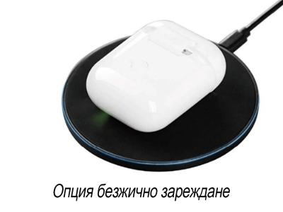 Слушалки Bluethooth TWS Airplus-A с Power Bank, 3D звук, Pop-Up,Wireless Charging , Бял