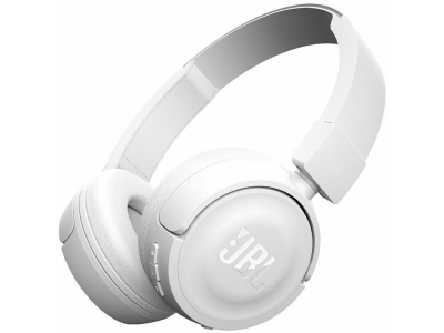 Слушалки Bluethooth JBL T450BT, Бял