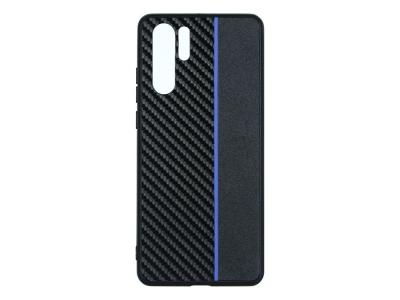 Удароустойчив гръб Moto Carbon за Huawei P30 Pro, Черен/ Син