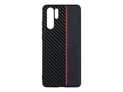 Удароустойчив гръб Moto Carbon за Huawei P30 Pro, Черен/ Червен