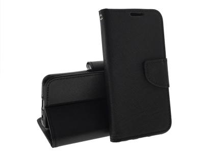 Калъф Тефтер Fancy за Samsung Galaxy A40, Черен
