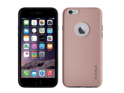 360 Градуса калъф за iPhone 6 / 6S, Розов/ Златист