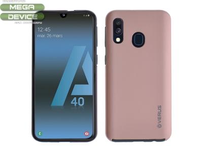 360 Градуса калъф за Samsung Galaxy A40, Розов/ Златист