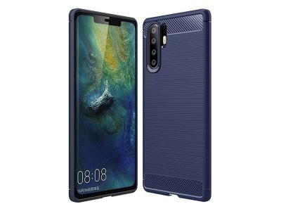 Силиконов гръб Carbon Fibre за Huawei P30 Pro, Тъмно син