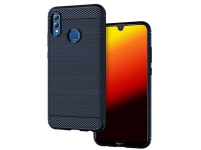 Силиконов гръб Carbon Fibre за Huawei P Smart 2019 / Honor 10 Lite, Тъмно син