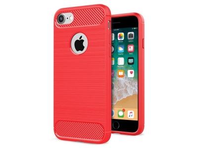 Силиконов гръб Carbon Fibre за iPhone 6 / 6S, Червен