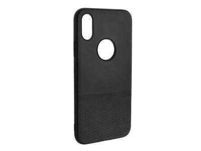 Силиконов гръб Lishen за iPhone X / iPhone Xs, Черен