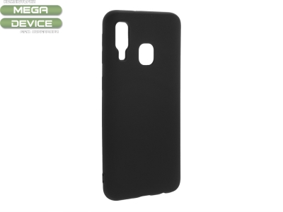 Силиконов Гръб Level за Samsung Galaxy A40, Черен