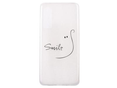 Силиконов Гръб за Huawei P30, Усмивка