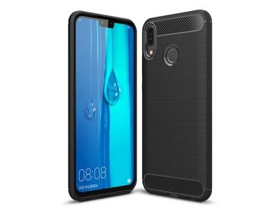 Силиконов Калъф Carbon Fibre Brushed - Huawei Y9 (2019) - Black